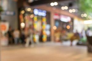 Blurred view of storefront photo
