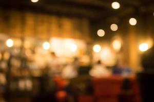 Blurred restaurant scene