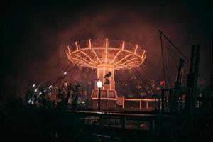 Carousel in the amusement park