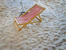 Striped beach chair photo