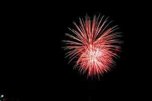 fuegos artificiales en el cielo