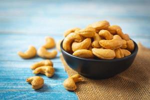 Roasted cashew nuts photo