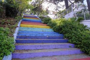 Burgazada, Turkey, 2020 - Colorful staircase near buildings