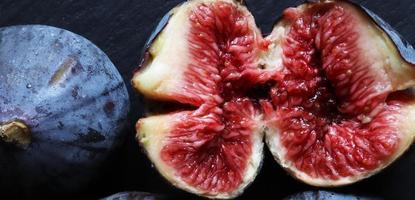 Sliced red fig
