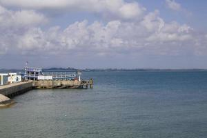 Empty port near water