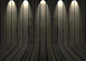 fondo de madera oscura con luces foto