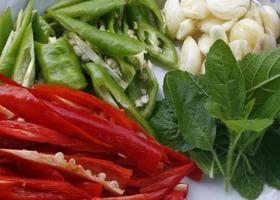 The ingredient before cooking Thai food