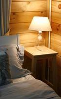 Lamp on nightstand