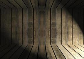 pared de madera en una habitación oscura