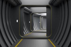Futuristic modern armored doors photo