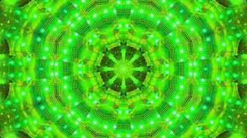 Fondo de pantalla de fondo de ilustración 3d de kalaidoscopio parpadeante azul verde