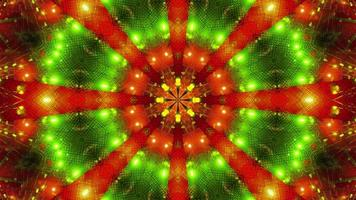 Green Red Blinking kalaidoscope 3d illustration background wallpaper