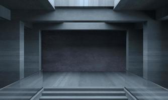 Big concrete room 3D illustration photo