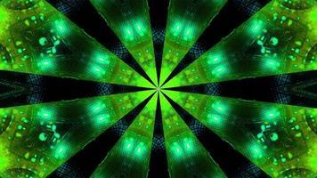 Green blue Blinking kalaidoscope 3d illustration background wallpaper