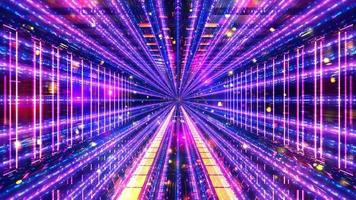 Glowing science fiction space tunnel 3d illustration background wallpaper design artwork