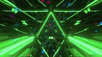 Space tunnel with glowing particles 3d illustration motion design background wallpaper design artwork