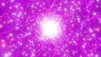 Pink bright glowing sci-fi space particle galaxy 3d illustration background wallpaper design artwork