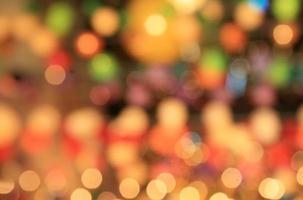 Fondo de luces bokeh desenfocado multicolor