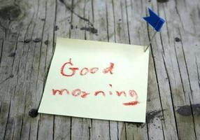 Good morning sticky note