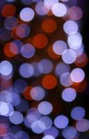Blue and red bokeh lights