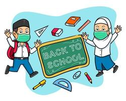 Happy Hand Drawn Students Give Back To School Greeting
