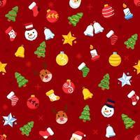 ornamento del árbol de navidad de patrones sin fisuras