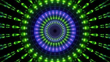 Round rotating neon lights 3d illustration background wallpaper design artwork