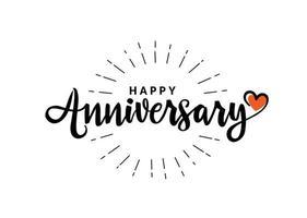 Happy Anniversary hand lettering vector