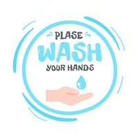 Hand held to receive alcohol gel to wash your hands The concept of hand washing kills viruses vector