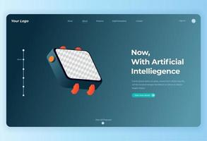 Wearable device technology for landing page vector