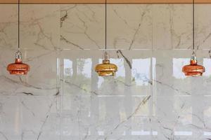 Loft pendant light, Hanging lamp on white background.Elements of interior. Modern interior Concept.