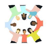 personas de diferentes culturas y razas. vector