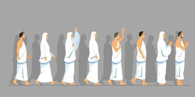 Walking Pack Of Hajj Pilgrimage In Parallel