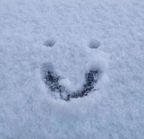 Smiley face in snow