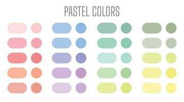 Set of pastel gradient colourful backgrounds. Modern display themes. Template design for mobile app. vector