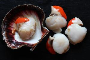 Scallops in a shell