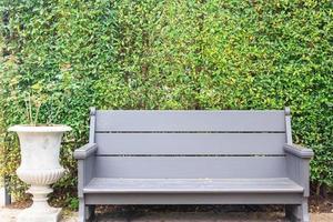 silla de tono con pared cubierta de hiedra foto