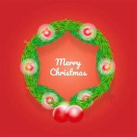 Realistic Christmas Background Vector