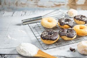 Donuts in kitchen