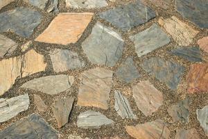 suelo de piedra variada foto