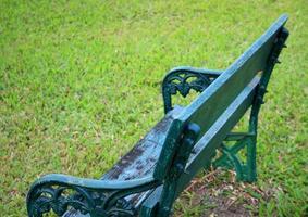 Metal garden bench photo