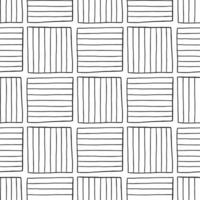 Vector seamless texture background pattern. Hand drawn, black, white colors.