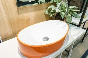 Orange modern sink