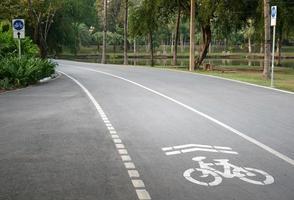 Bike pathway on road