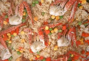 cangrejo y arroz