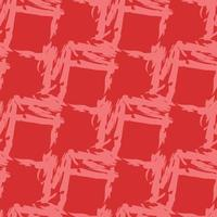 Vector seamless texture background pattern. Hand drawn, red colors.
