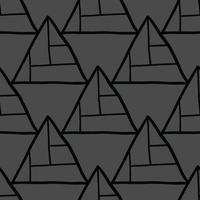 Vector seamless texture background pattern. Hand drawn, black, grey colors.