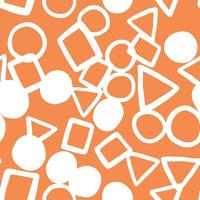 Vector seamless texture background pattern. Hand drawn, orange, white colors.