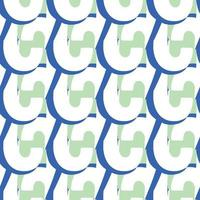 Vector seamless texture background pattern. Hand drawn, blue, green, white colors.