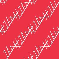 Vector seamless texture background pattern. Hand drawn, red, white colors.